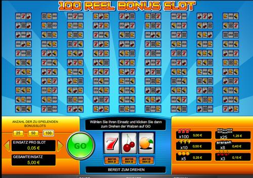 100 reel bonus slot im casinoclub online spielen