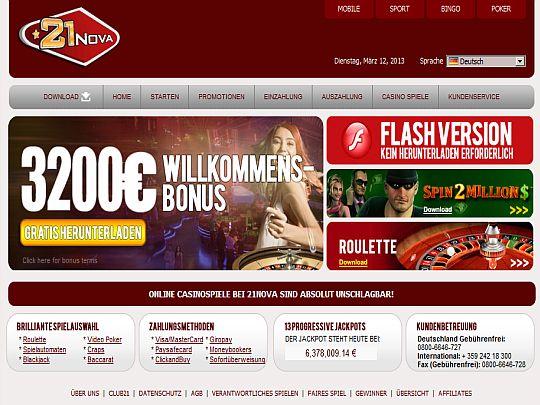 21 Nova Casino