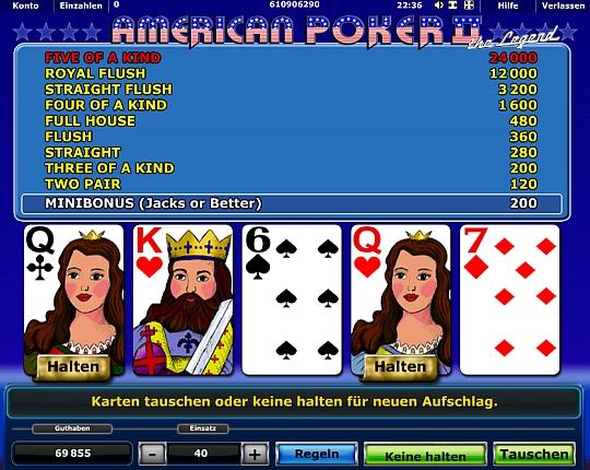 American Poker II spielen