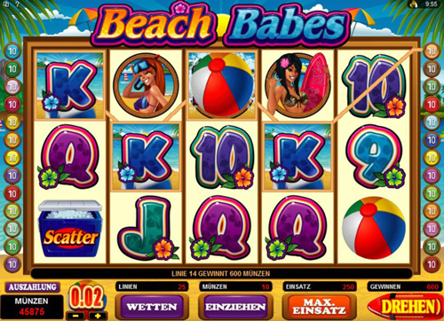 beach babes online slot im spinpalace casino