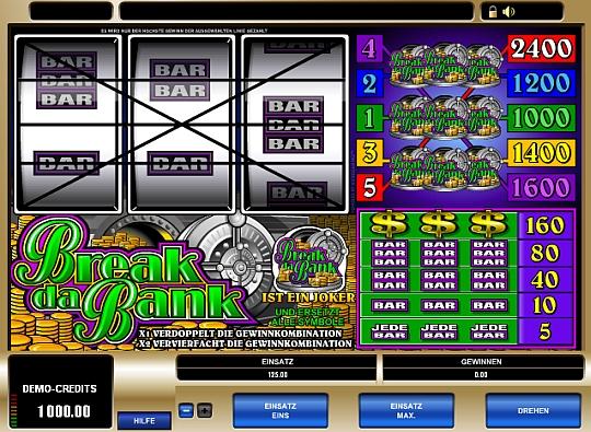 Break da Bank online spielen im Casino Euro