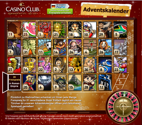 casino club freispiele adventskalender bonus