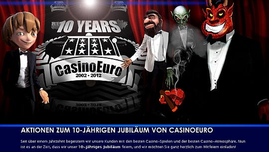 Casino Euro feiert 10. Geburtstag