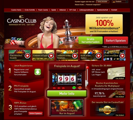 30 Euro Bonus im Casino Club