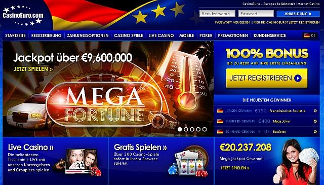 Casino Euro - spielen ohne Download