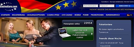Pokern im Casino Euro