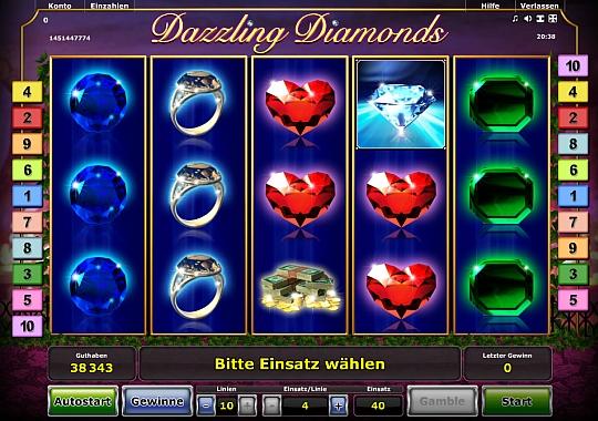 Dazzling Diamonds jetzt online spielen bei Stargames