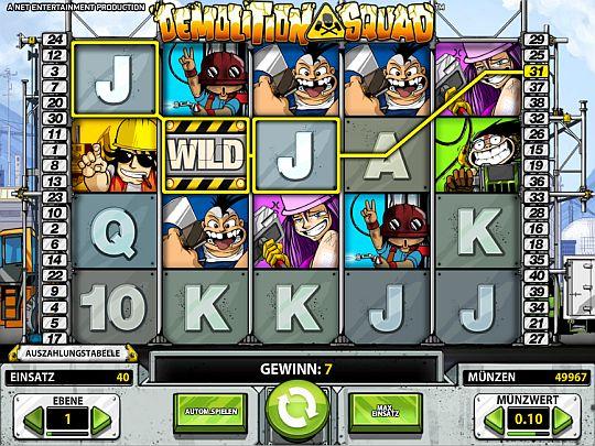 Demolition Squad Casino Spiel
