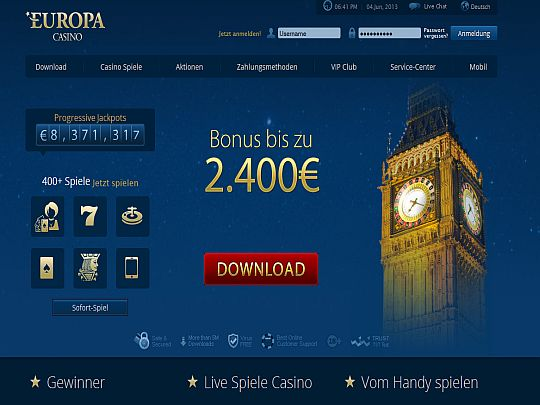 Europa Casino Relaunch