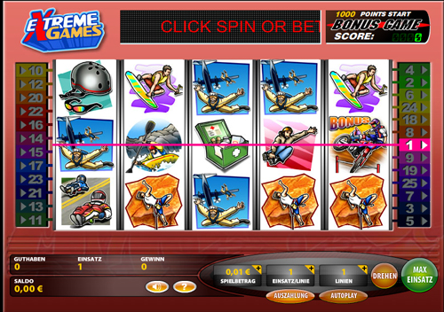 extreme games online slot im casinoclub
