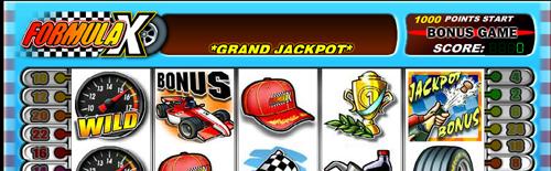 formula x online slot im casinoclub