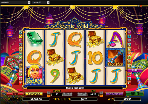 genie wild online slot im casinoeuro