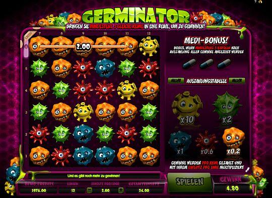 Germinator online spielen im Casino Euro