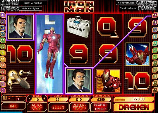 Iron Man Marvel Slot