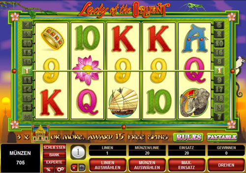 lady of the orient online slot im spinpalace casino