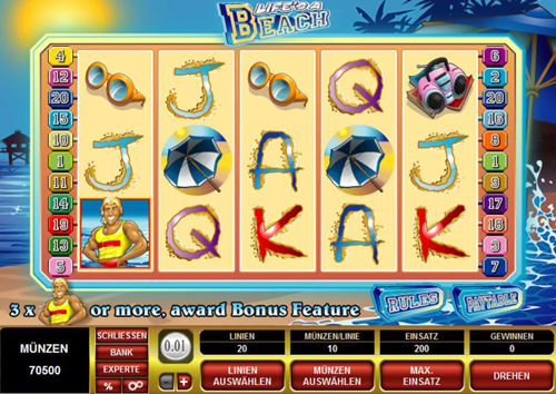 lifes a beach online slot im spinpalace casino
