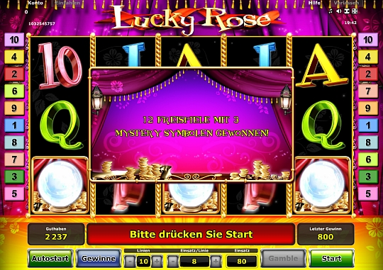 Lucky Rose Freispiele