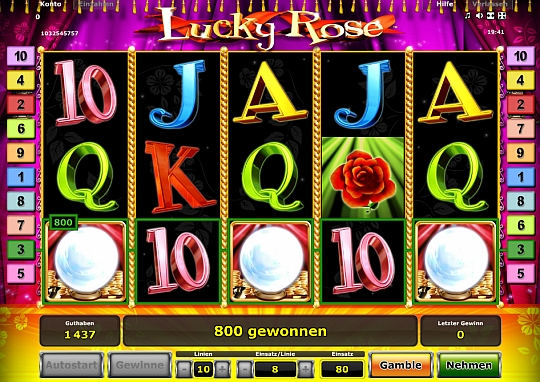 Lucky Rose im Stargames Casino spielen