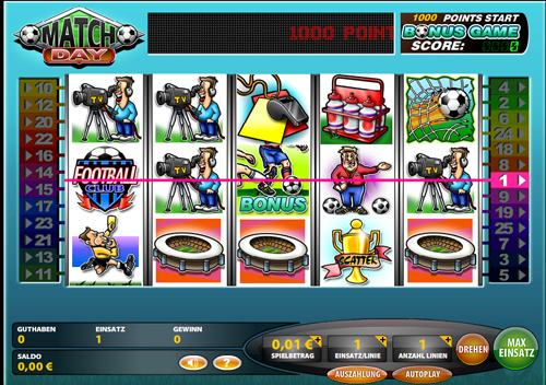 match day online slot im casinoclub