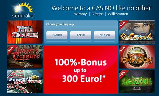 Gauselmanns erstes Online Casino - Sunmaker