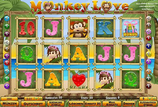 Monkey Love spielen bei Mybet