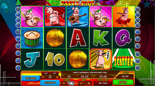 party pigs online slot im 888 casino spielen
