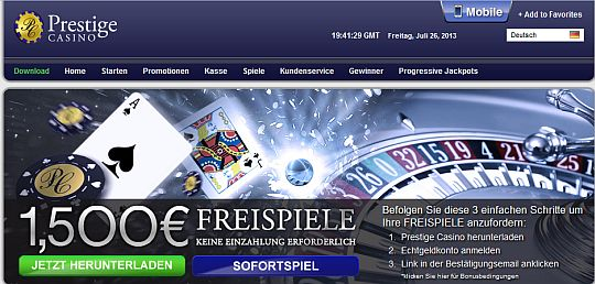 Spielen im Prestige Casino