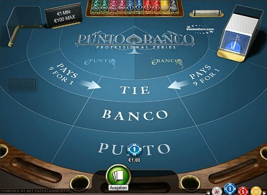 Punto Banco im Casino Euro