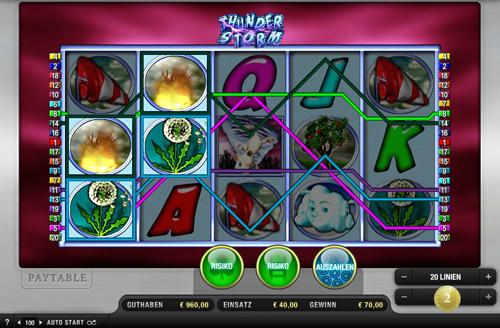 thunde storm online slot im sunmaker casino