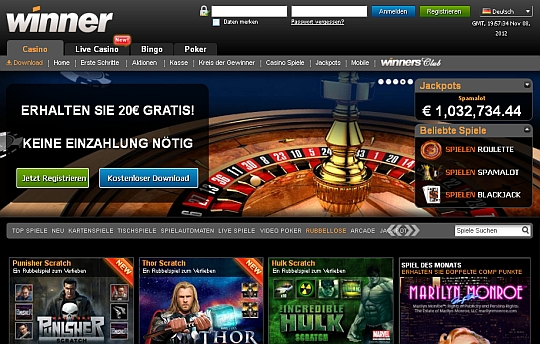 Rubbellose im Winner Casino